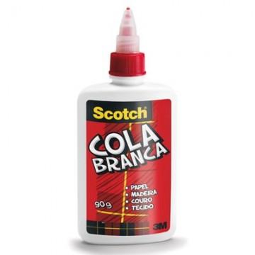 Cola Branca Scotch 90 Gramas 3M 12 Unidades