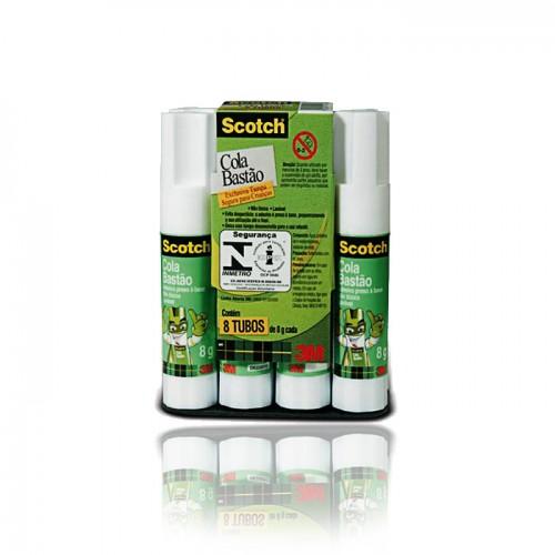 Cola Em Bastão Scotch 8 Gramas 3M 8 Unidades - 3M - Scotch 8gr