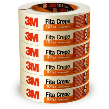 Fita Crepe 18X50m 101LA 3M 6 Rolos