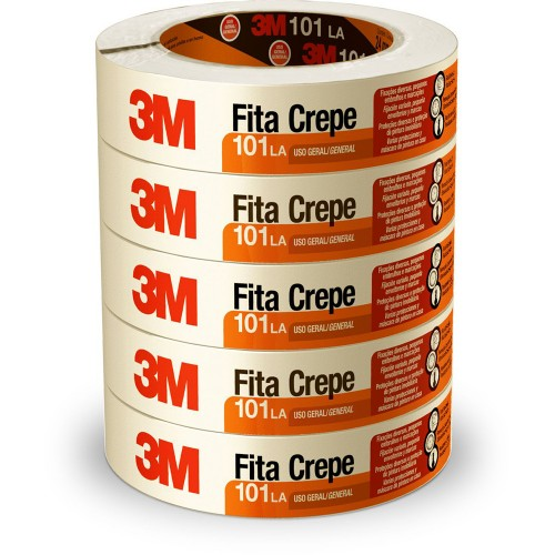 Fita Crepe 24X50m 101LA 3M 5 Rolos - 3M - 101LA