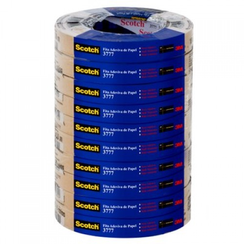 Fita De Papel Kraft 18X50m 3777 Scotch 3M 10 Rolos - 3M - 18X50m 3777