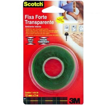 Fita Dupla Face Fixa Forte 12mmx2m Uso Interno Scotch 3M