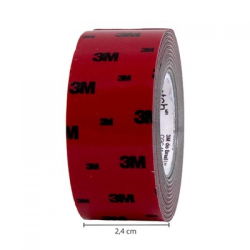 Fita Dupla Face Fixa Forte 24mmx1,5m Uso Externo Scotch 3M - 3M - Fixa Forte 24mmx1,5m