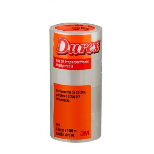 Fita Empacotamento Durex 3M Transparente  45MM x 100M - 3M - Durex 45 x 100