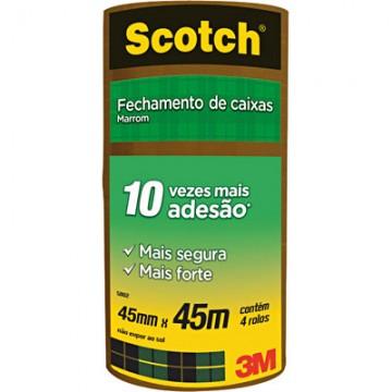 Fita PVC 45x45m Marrom Scotch 3M 4 Rolos