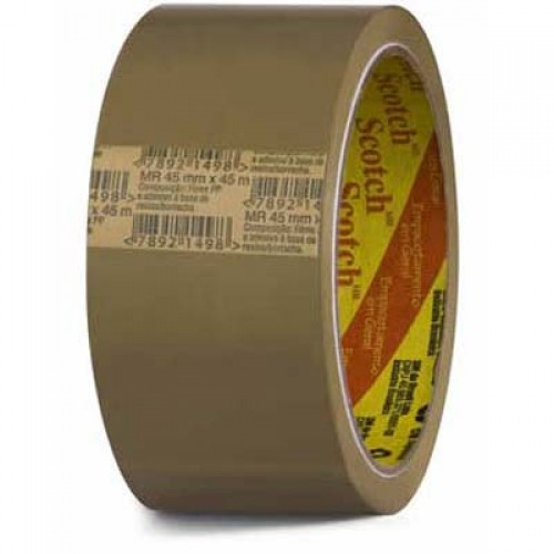 Fita PVC 45x45m Marrom Scotch 3M 4 Rolos - 3M - PVC 45x45