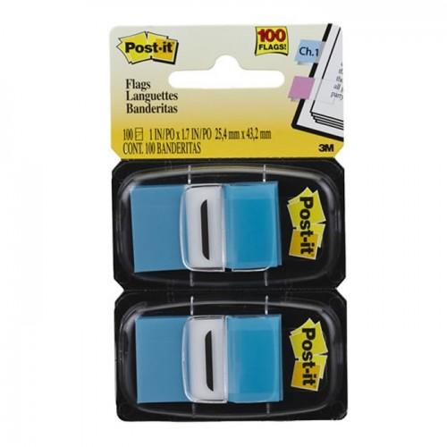 Marcador De Página Adesivo Post-It Flags 680-BB2 Azul 100 Folhas 3M - 3M - 680-BB2