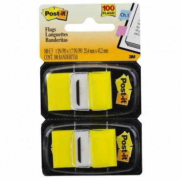 Marcador De Página Adesivo Post-It Flags 680-YW2 Amarelo 100 Folhas 3M