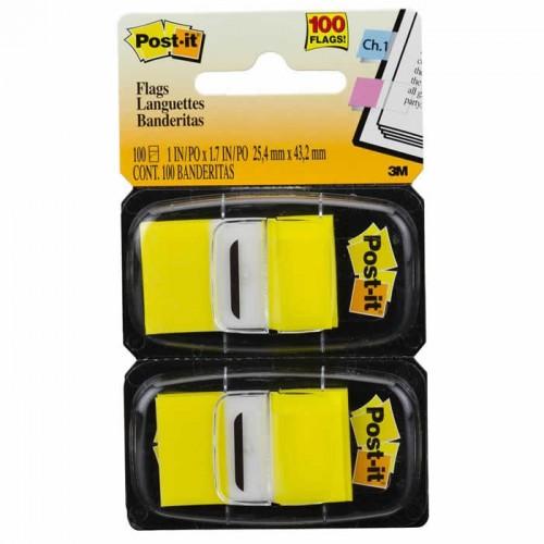 Marcador De Página Adesivo Post-It Flags 680-YW2 Amarelo 100 Folhas 3M - 3M - 680-YW2