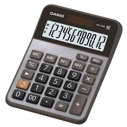 Calculadora Mesa Prata MX - 120B 12 Dígitos Casio