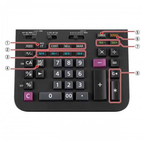 Calculadora Com Bobina DR-120R Preta Casio