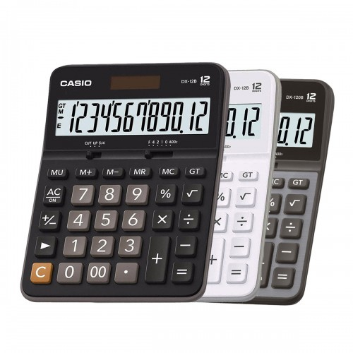 Calculadora Mesa DX - 12B 12 Dígitos Casio