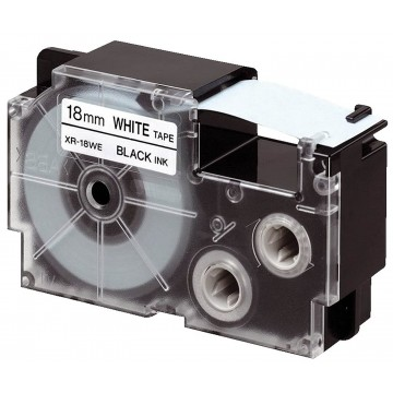 Fita Rotuladora Casio XR-18WE1 18mm Branca Preto K...