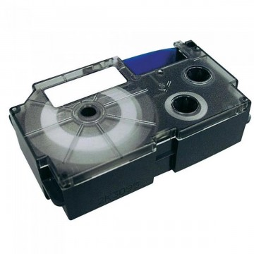 Fita Rotuladora Casio 6mm Transparente Preta KL-60...