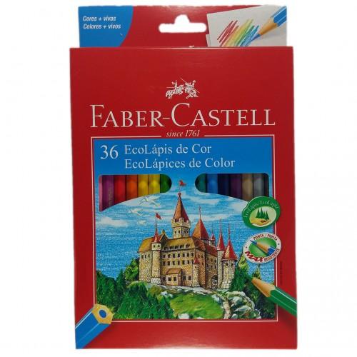 Lapis de Cor Faber Castell Ecolapis 36 Cores Sextavado - Faber Castell - 36 Cores