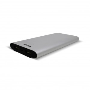 Bateria Portátil Power Bank Dual Alumium 12000 USB Maxprint