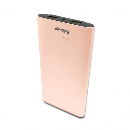 Bateria Portátil Power Bank Dual Gold 7000 mAh USB Maxprint - MaxPrint - Power Bank Dual Gold 7000 mAh