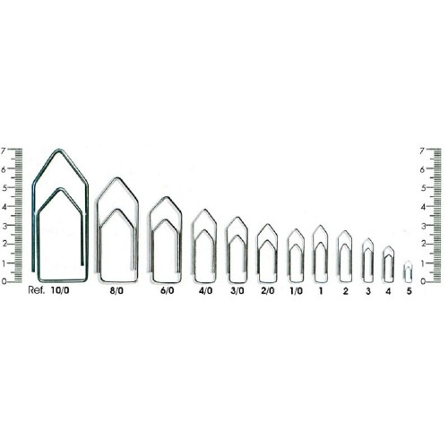 Clips Nr 8/0 Grande Galvanizado Acc 10 Caixas - ACC - 8/0