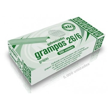 Grampo 26/6 Galvanizado Extra 5000 Grampos Acc 10 ...