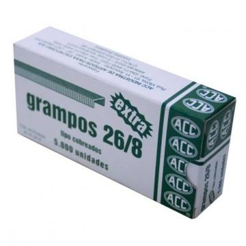 Grampo 26/8 Extra Cobreado 5000 Grampos Acc 10 Cai...