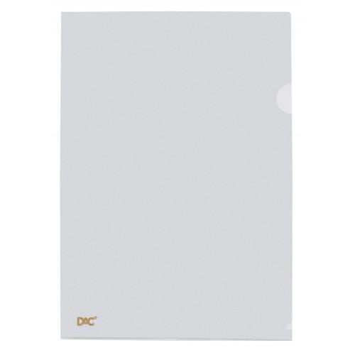 Pasta Em L Dac A4 Cristal Trasparente 100 Unidades - DAC - Em l