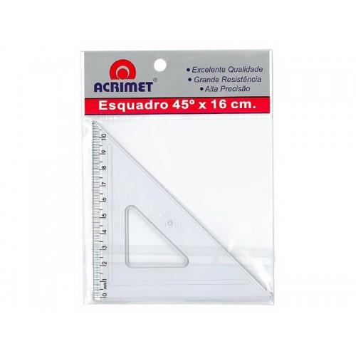 Esquadro 45 Graus 16cm Acrimet 24 Unidades - Acrimet - 522.0