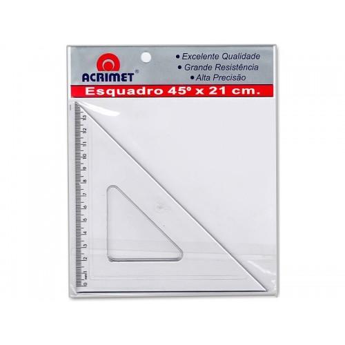 Esquadro 45 Graus 21cm Acrimet 24 Unidades - Acrimet - 532.0