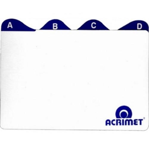 Índice A/Z 4x6 Para Fichário De Mesa  Acrimet - Acrimet - 4x6