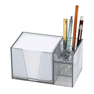 Organizador De Mesa Cristal Com Papel Acrimet
