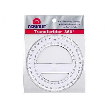 Transferidor 360 Graus 12cm Acrimet | 24 Unidades