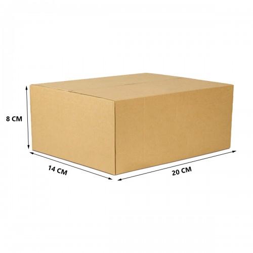 Caixa De Papelão Embalagem 20 x 14 x 08 cm 25 Unidades