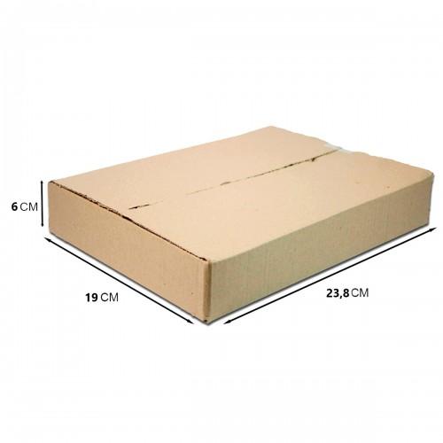 Caixa De Papelão Embalagem 23,8 x 19 x 06 cm 25 Unidades