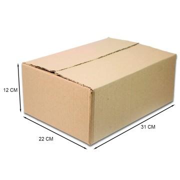 Caixa De Papelão Embalagem 31 x 22 x 12 cm 25 Unidades