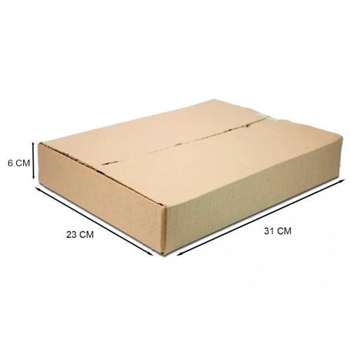 Caixa De Papelão Embalagem 32 x 23 x 6 cm 25 Unidades - Alfa - 32x23x06