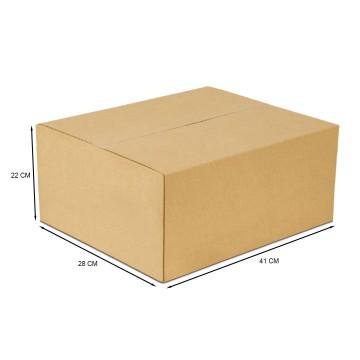 Caixa De Papelão Embalagem 41 x 28 x 22 cm 25 Unid...