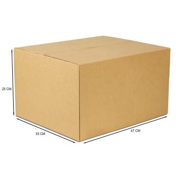 Caixa De Papelão Embalagem 47 x 33 x 25 cm 25 Unidades
