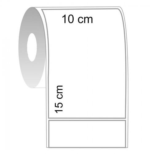 Etiqueta Térmica 10 x 15 cm Serrilhada 20 Rolos 30 Metros