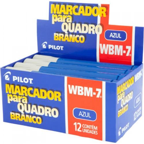 Pincel Marcador Para Quadro Branco Wbm-7 Azul Pilot 12 Unidades - PILOT - WBM-7