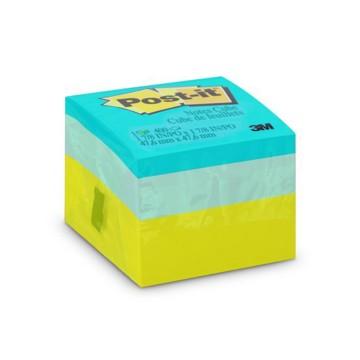 Bloco Adesivo Post-it Cubo Verde 47,6mm x 47,6mm 4...