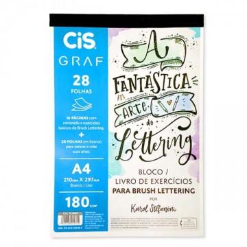 Bloco Letterring A4 180 Gramas 28 Folhas Cis Graf