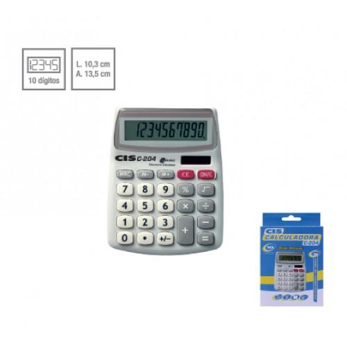 Calculadora De Mesa C-204 10 Dígitos Cis - CIS - C-204