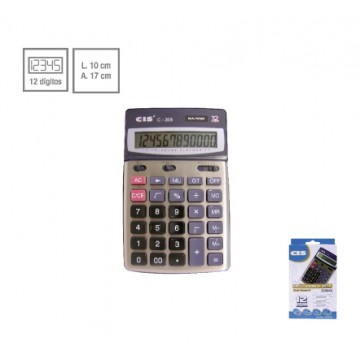 Calculadora De Mesa C-208 Dual Power 12 Dígitos Ci...