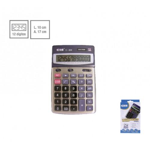 Calculadora De Mesa C-208 Dual Power 12 Dígitos Cis - CIS - C-208