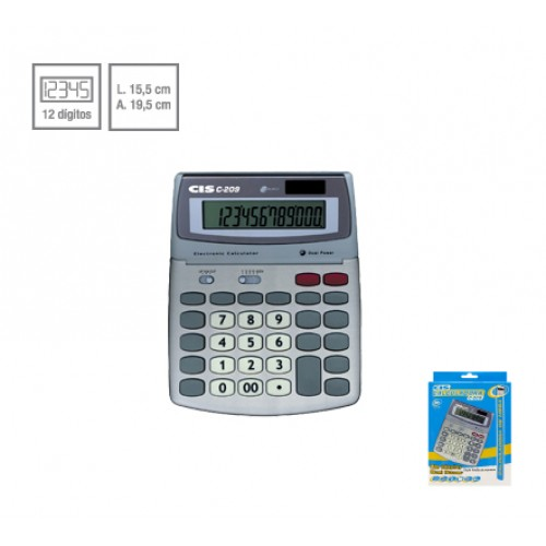 Calculadora De Mesa C-209 12 Dígitos Cis - CIS - C-209