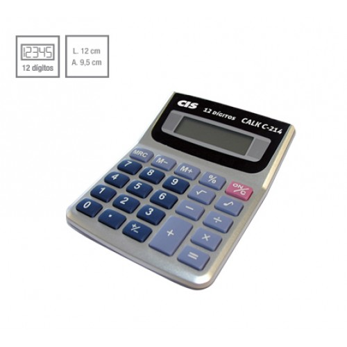 Calculadora De Mesa Calk C-214 12 Dígitos Cis - CIS - C-214