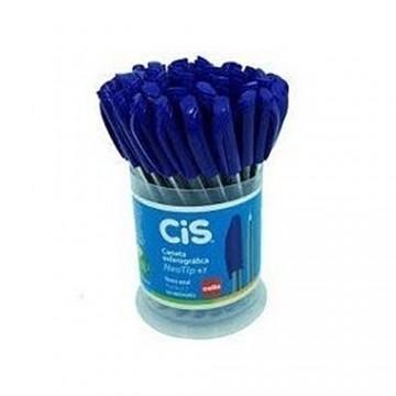 Caneta Esferográfica NeoTip CIS Azul 0.7 mm 50 Unidades