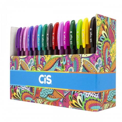 Caneta Trigel Cis 60 Cores Pastel Neon Metálicas e glittes Cis