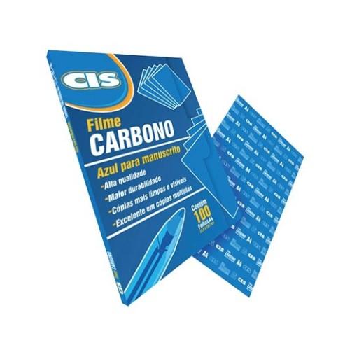 Carbono Filme Manuscrito Azul Cis 100 Folhas - CIS - Filme Manuscrito Azul