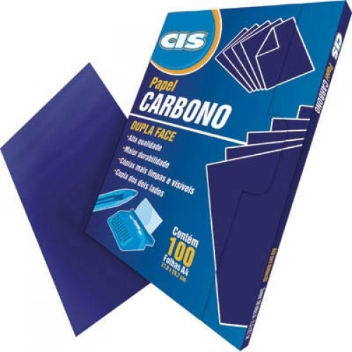 Carbono Papel Dupla Face Cis 100 Folhas - CIS - Dupla Face