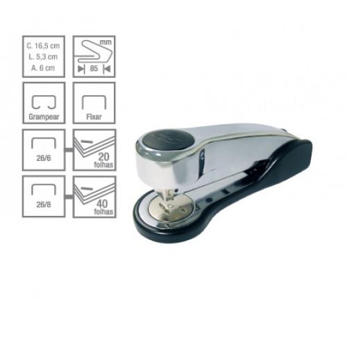 Grampeador C-20 Metallic 40 Folhas Cis - CIS - C-20